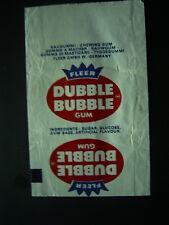 Fleer Bubblegum White 1980s  W Germany Dubble Bubble Wrapper (E11)