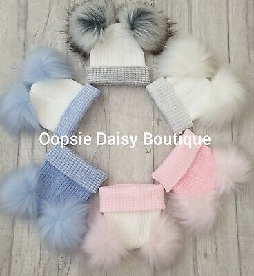 Baby Girls /& Boys Lovely Knitted Pom Pom Hats Newborn First Size ☆