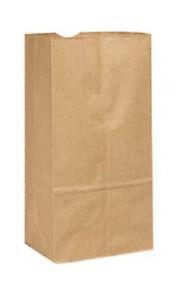 "2LB BROWN DURO PAPER GROCERY BAGS, 4 5/16"" x 2 7/16"" x 7, FLAT BOTTOM, 500/BDL"