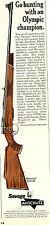 1966 Print Ad of Savage Anschutz 153 Bolt Action 222 Sporter Rifle