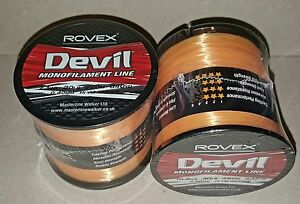 Rovex-Devil-Fishing-Line-Bulk-1-4lb-Spool-Hi-Vis-Orange