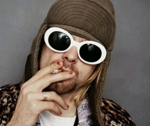 White Clout Goggles Clout Rapper Hypebeast Cool Migos Yachty Glasses Kurt Cobain