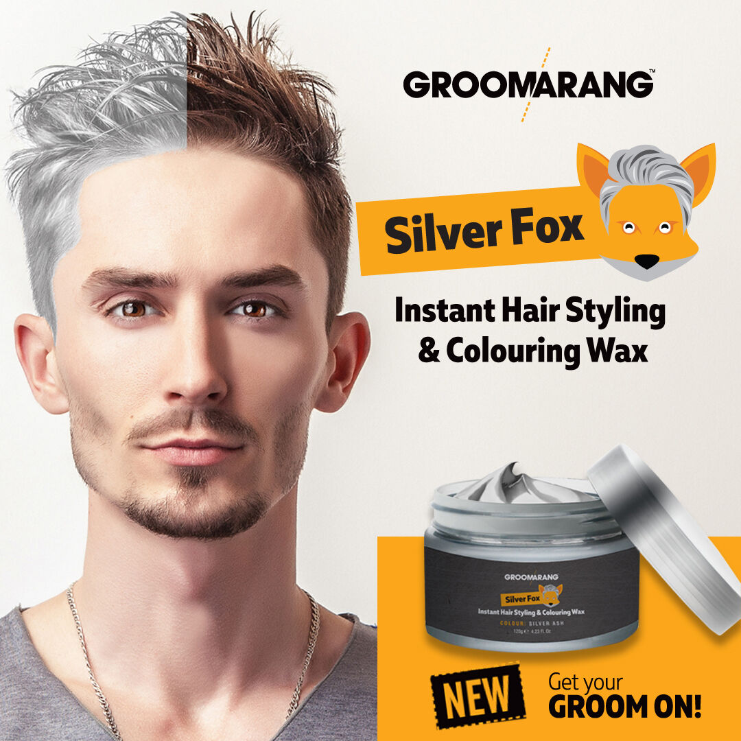 3 Silver Fox Instant Hair Colour Styling Wax Natural Grey Wash Out Temporary Dye For Sale Online Ebay
