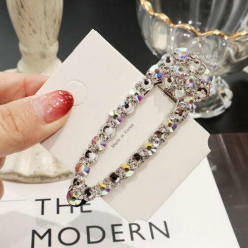 New Fashion Girls Gold Silver Crystal Hair Clip Hairpin Bobby Hair Accessories