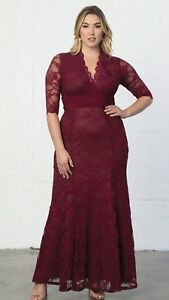 3a81833f503 New! KIYONNA SCREEN SIREN LACE GOWN ROSE WINE PLUS SIZE 2 18 20 2X ...