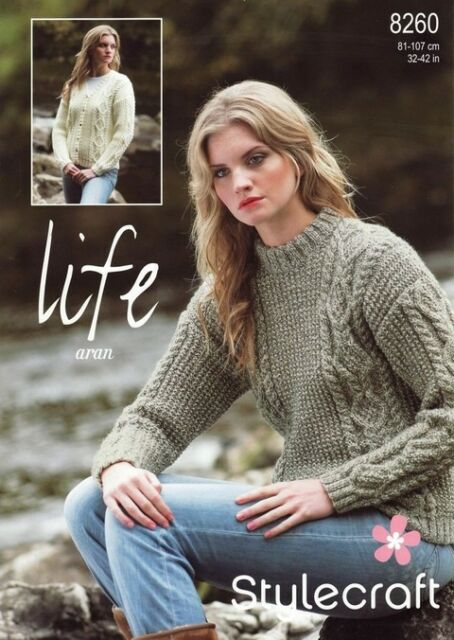 Stylecraft 9609 Knitting Pattern Crochet Woven Sweater And Tunic In Bambino DK