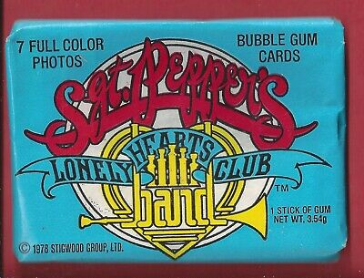 1978 Donruss Sgt Peppers Lonely Hearts Club Band UNOPENED Pack 4 Pack FROM  BOX