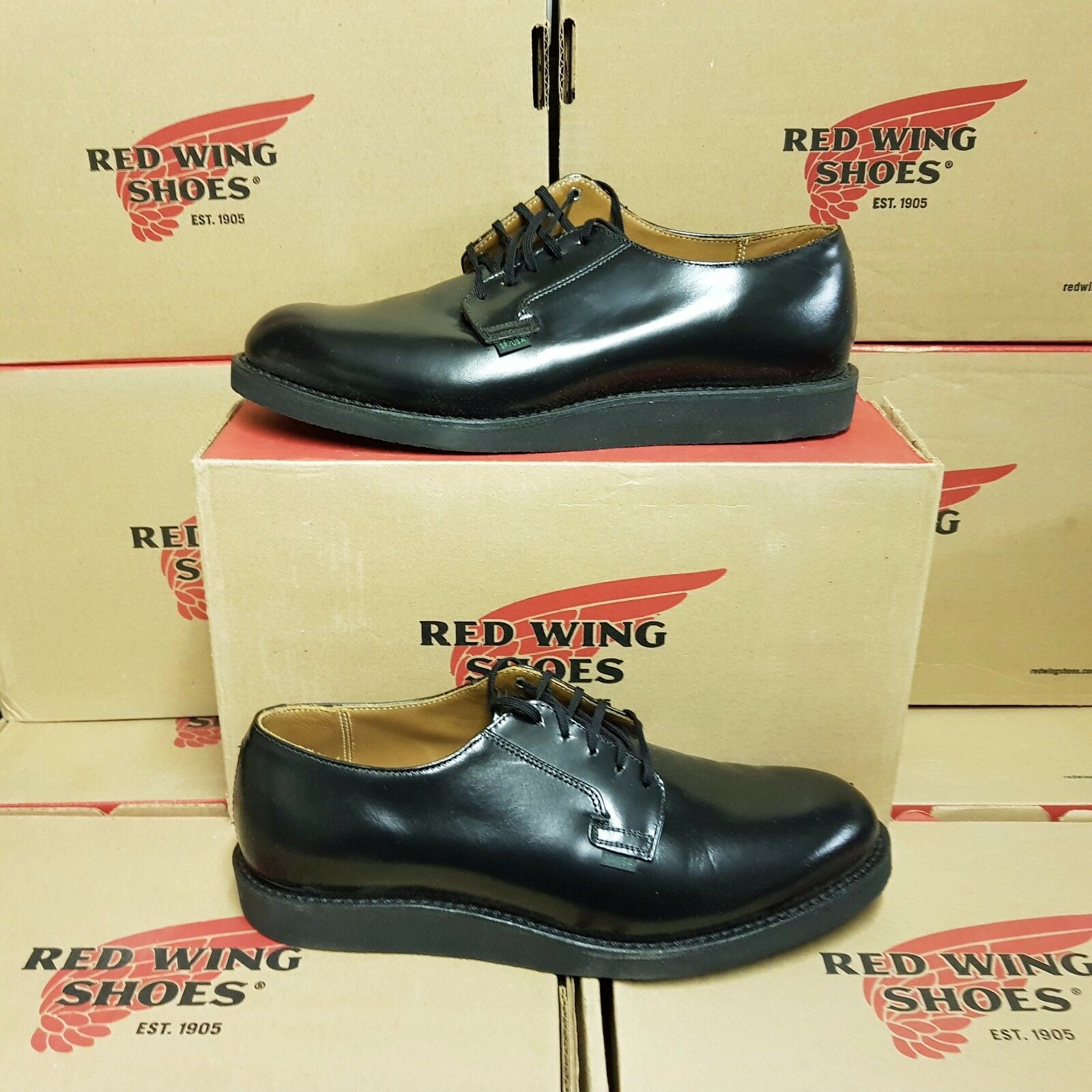 RED WING SHOES 101 Postman Postman Postman Oxford Uomo leather shoe US 13 EUR 47 (pv:) c32872