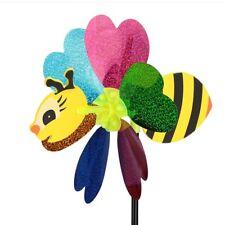 Windrad Biene Glitzer Herz 54 cm hoch 20,5 cm Durchmesser