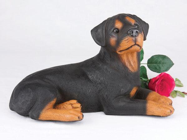 Pet Dog Figurine Cremation Urn - redtweiler