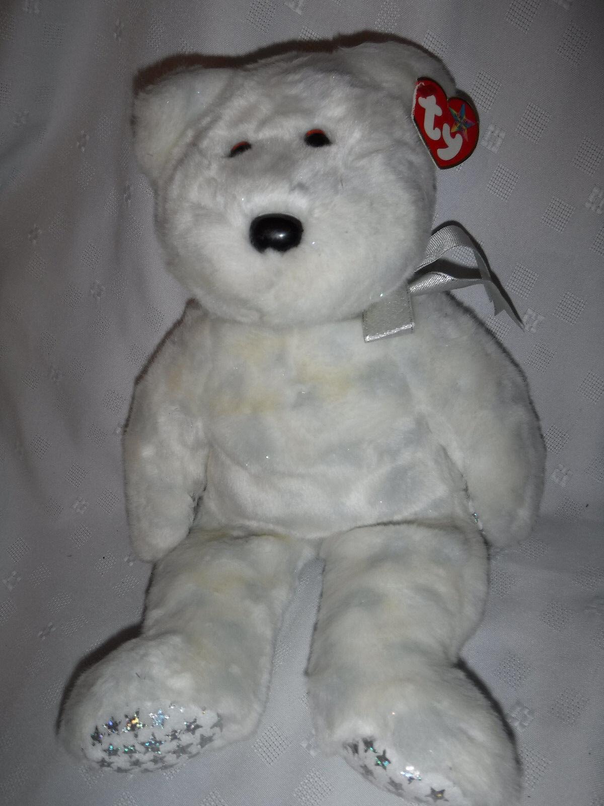 Ty Beanie Buddies The Beginning Bear 15  Plush Soft Toy Stuffed Animal