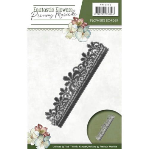 Precious Marieke Fantastic Flowers Cutting Die Flowers Border PM10093