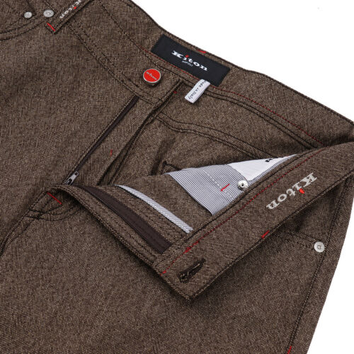 Details about  /Kiton Slim Fit Soft-Woven Donegal Tweed Wool 5-Pocket Pants 35 Jeans
