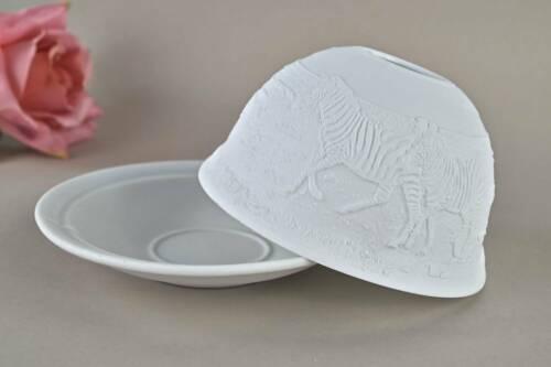 Teelichthalter Windlicht Dekoration Porzellan Domelight Nr 32012 Zebras