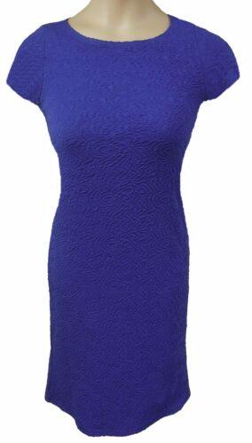 10 BOOHOO SIZE UK 8 BLUE SHORT SLEEVE TEXTURED PENCIL DRESS /& 14 LD406