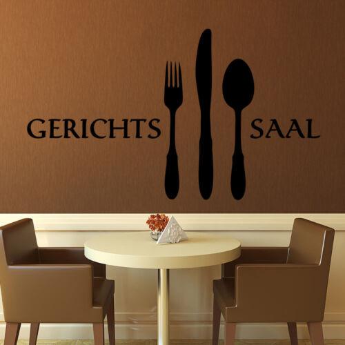 Wandtattoo Gerichtssaal Gericht Saal EsszimmerWandspruch Küche Essen 216+