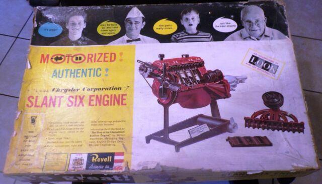 VINTAGE REVELL (1961) MOTORIZED CHRYSLER SLANT SIX ENGINE -ALMOST COMPLETE