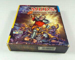 M-U-D-S-Commodore-Amiga-Spiel-Big-Box-OVP-VGC-CIB-Vintage-Game-Collectible