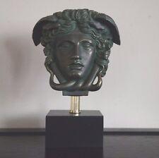 "Medusa Bust Head Sculpture in Bronze finish 11"" Greek Roman Replica Reproduction"