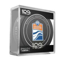 2017 NHL Edmonton Oilers Stanley Cup Playoffs Official On-Ice Hockey Puck