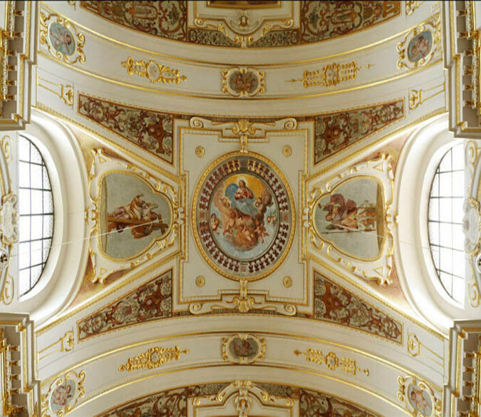 3D Bright    Church 87 Ceiling WallPaper Murals Wall Print Decal Deco AJ WALLPAPER e813f1