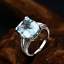 18ct-White-Gold-Stunning-Natural-Brazilian-Aquamarine-amp-Diamond-Cocktail-Ring-VS thumbnail 3