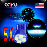 5x T10 194 168 Ice Blue 3528 4-smd Led Bulbs For Car License Plate Lights Lamp on sale