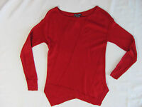 Eileen Fisher Bateau Neck Top/sweater Fine Merino-lacquer Red- Size Pp -nwt $258