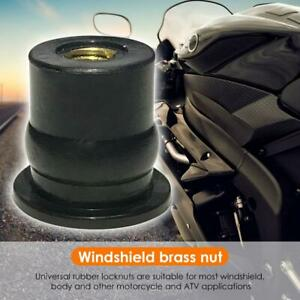 Universal-M6x0-8mm-Rubber-Well-Nut-Metric-Motorcycle-Windscreen-Brass-Nuts-Neu