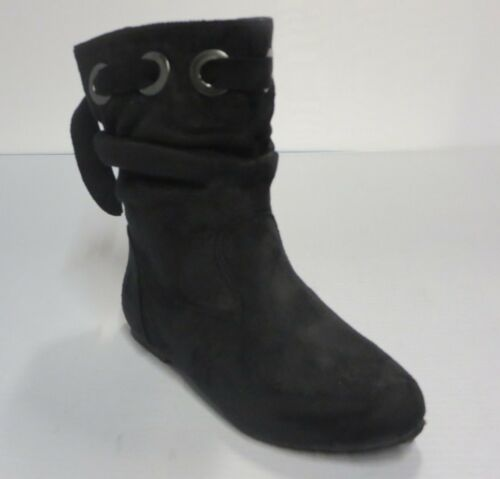 Girl Suede Slouchy Boots Low Calf cathy3k Kid Size Black Purple Oxblood Red