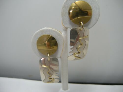 80s  Earrings  Geometric  Memphis Group  Sterling Silver  Anodized Aluminum Aluminum David Badman