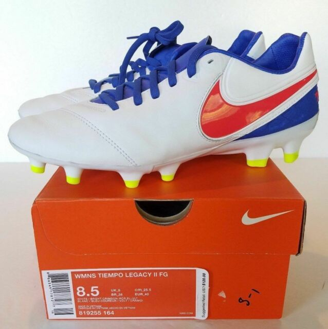 61e98fc8610 NIKE Leather Tiempo Legacy II FG Soccer Cleats Womens NEW 819255-164 MSRP  120.00