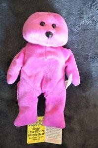 SNAP-the-fluoro-purple-bear-Beanie-Kids-Great-condition