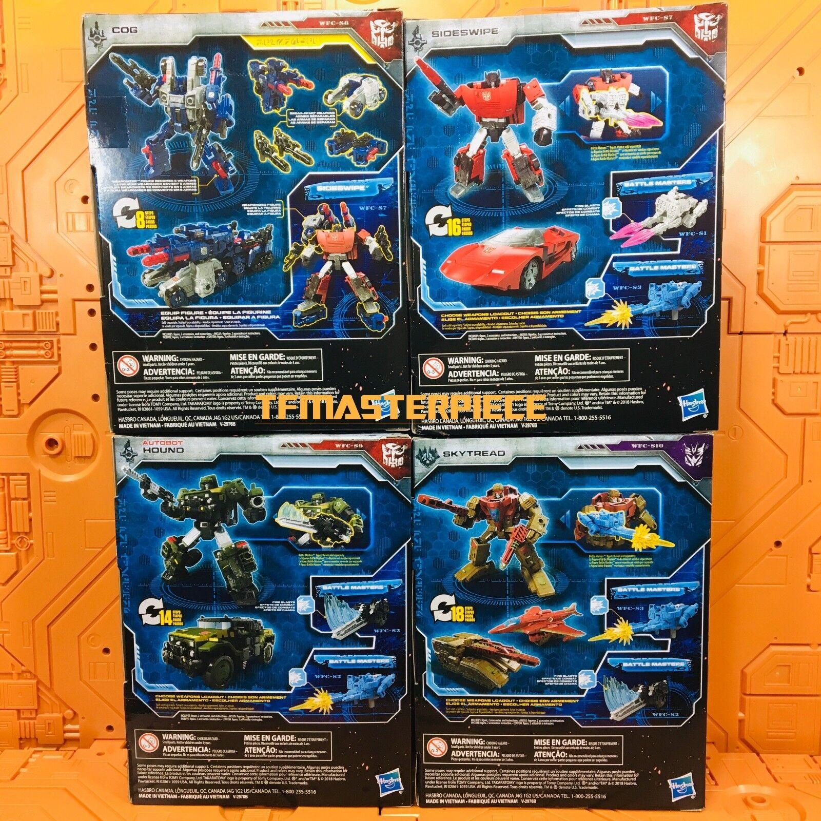 Transformers asedio guerra por Cybertron De lujo Clase COG Hound Sideswipe skytread