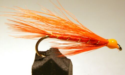 ICE FLIES - 10 3-pack Streamer fly Whisky fly Size 4