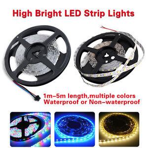 LED-Stripe-Streifen-Licht-Lichterkette-RGB-Wasserdicht-SMD5050-5630-12V-1m-5m-EU