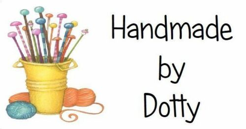 65 Personalised Mini Address labels Handmade etc Knitting Needles