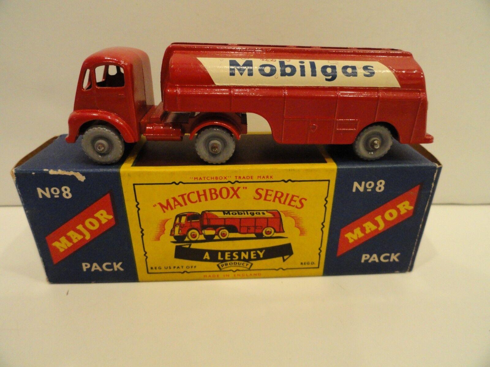 online al mejor precio Matchbox grandes paquetes M-8 Mobilgas Camión Ruedas de plástico gris gris gris Raro en Caja  colores increíbles