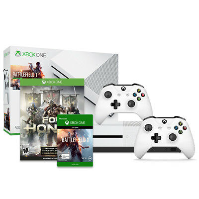 Xbox One S Battlefield 1 Bundle (500GB) + Xbox Wireless Controller + For Honor