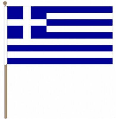 12 Stück Griechenland (22.9cm X 15.2cm) Hand Winkfahne Gute Begleiter FüR Kinder Sowie Erwachsene