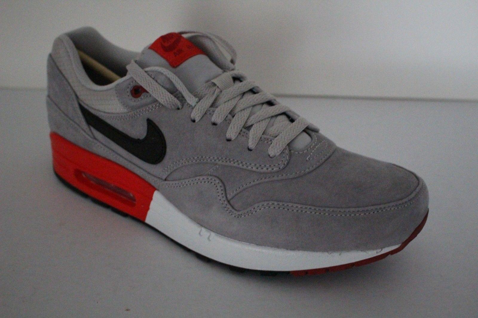 Nike Air Max 1 PRM Mens Suede Premium Retro Casual Running shoes Iron Ore Crimson