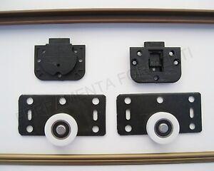 binario per 2 ante porte armadio con accessori bronzo cm ...
