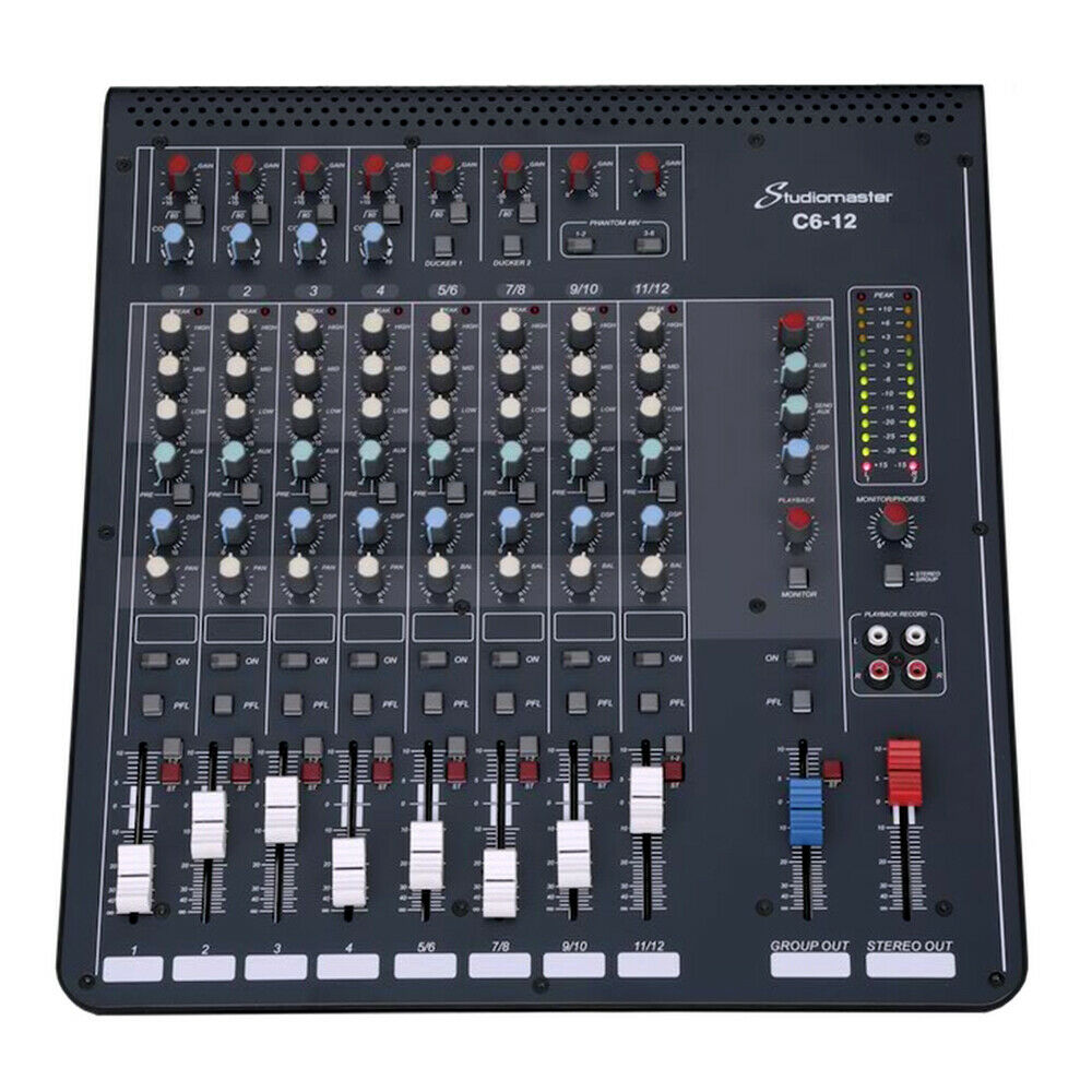 Studiomaster C6-12 Compact Audio Mixer 12 Channel Mixing Desk
