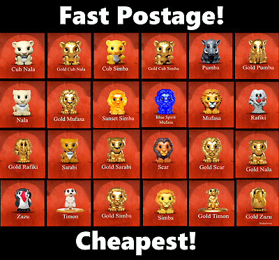 Gold Cub Nala Ooshie LION KING Woolworths OOSHIES CHEAPEST FAST POSTAGE