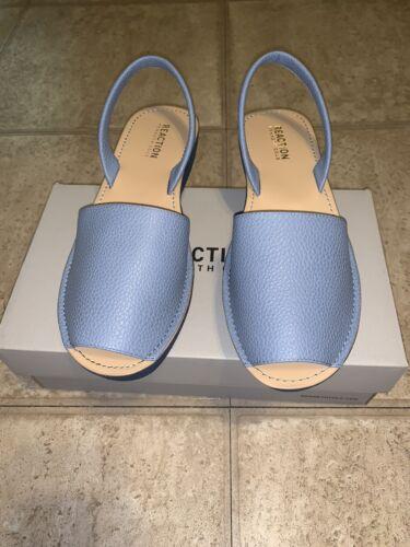 Kenneth Cole Reaction Womens FINE GLASS Open Toe Casual Wedge Blue Size 9 Heels