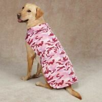 Casual Canine Pink Camo Dog Barn Coat Jacket Weather Resistant Fleece Lined Med