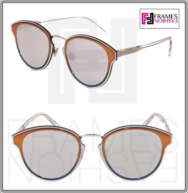 9698fb069c196 CHRISTIAN DIOR NIGHTFALL Crystal Orange Silver Mirrored Sunglasses  DIORNIGHTFALL