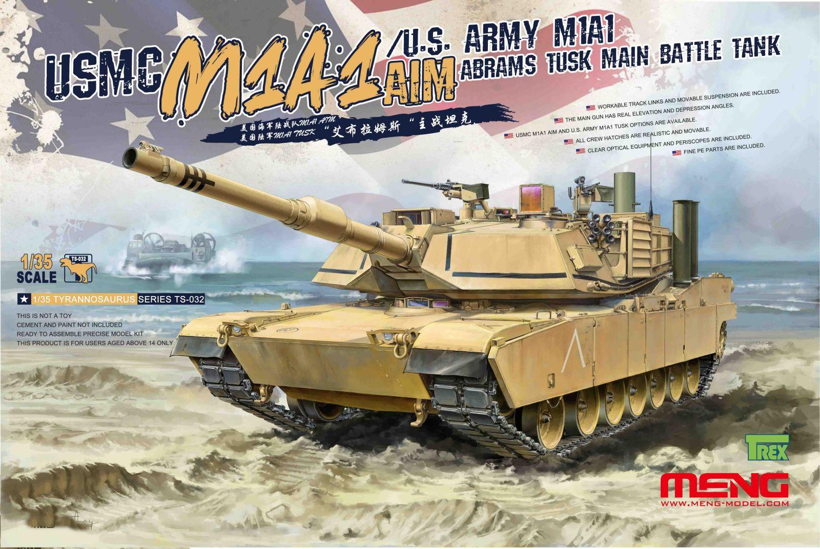 Meng Model TS-032 1 35th scale M1A1 Abrams TUSK Main Battle Tank