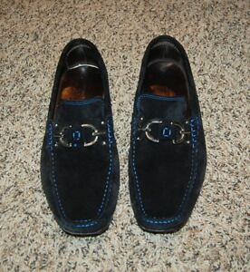 6f08892d018af Donald J. Pliner Dacio mens Italian black suede leather loafers sz 9 ...