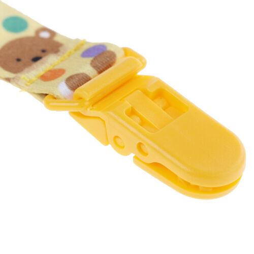 Neugeborenes Baby Schnuller Clips Kettenriemen Schnuller Dummy Nippelhalter  X